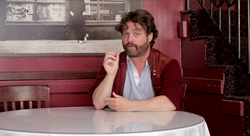 Coach, Zach Galifianakis gives standup advice in COMEDY WARRIORS