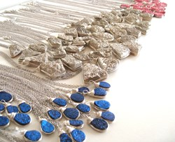 Titanium Druzy Quartz Necklaces from Vitrine Designs