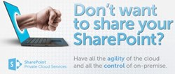 Don't want to share your SharePoint? Have all the agility of the cloud and all the control of on-premise with SherWeb.