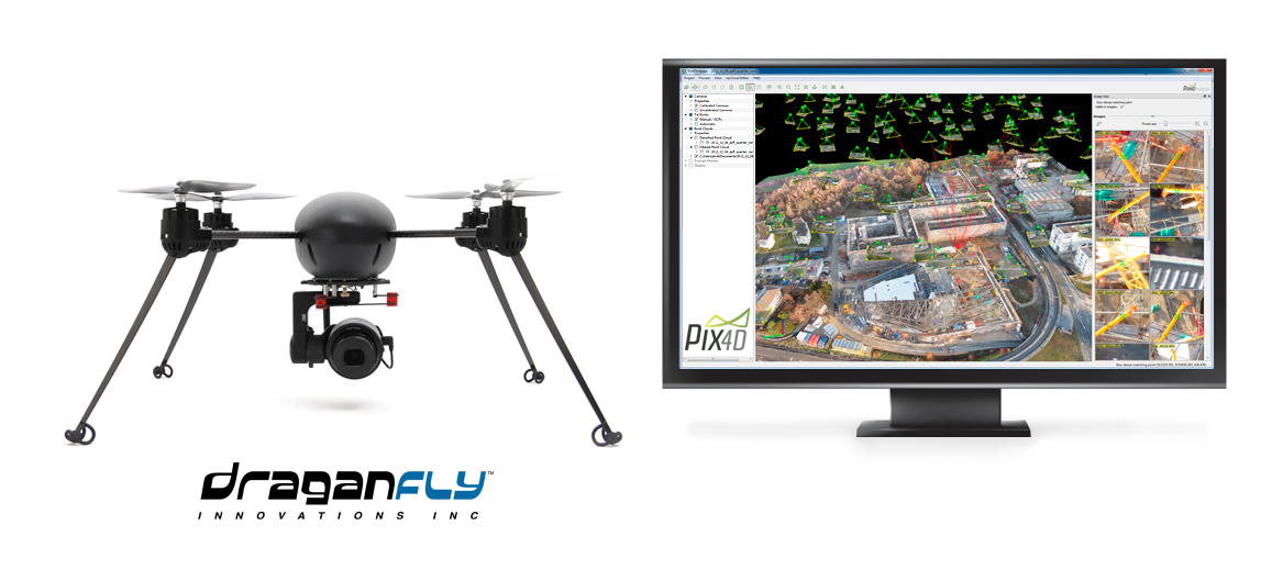 Draganfly Innovations Partners with Pix4D to Provide 3D