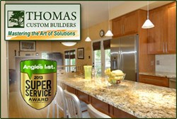 Thomas Customer Builders received Angie's List 2013 Super Service Award