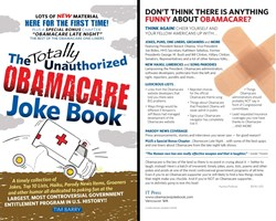 Front and Back Covers for the Totally Unauthorized Obamacare Joke Book(tm)