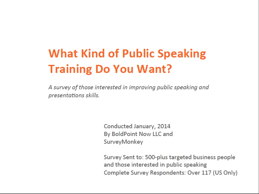 public speaking questionnaire Ets public speaking seminar survey (pre-test) guarantee of confidentiality: the information you supply on this survey will be kept strictly confidential your responses will be summarized with the responses of other students and will be.