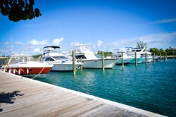 Vessels docked at the Marina at Palm Cay.
