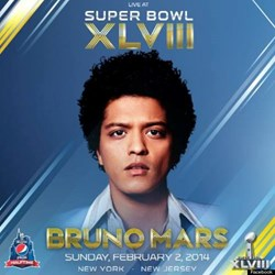 Bruno Mars Promo Photo for The Pepsi Sponsored Half Time Show