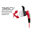 Audio-Technica's 360-Degree Rotating Ear Tips