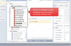 JAMS Visual Workflow Editor featuring Episys