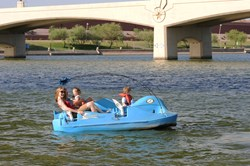 Rent a pedal boat on Tempe Town Lake