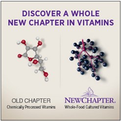 New Chapter Vitamins are whole food nutrition