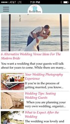 BrideBox Magazine app screenshot