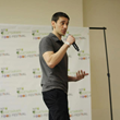 Greg Sher speaking at the NYC Veg Food Festival 2013