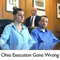 Richard Schulte, of Wright & Schulte LLC, with members of Dennis McGuire's family during news conference after Ohio execution.