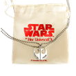 The I LOVE YOU, I KNOW necklace is perfect for Star Wars duos.  Keep one half for yourself and give the other half to your love, family member or friend.