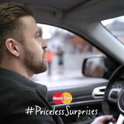 MasterCard, Justin Timberlake, Grammy Awards, Grammy's, surprise