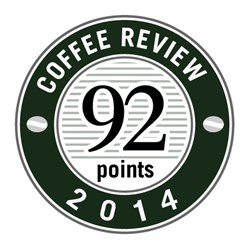 Coffee Review 92 Points for Crimson Cup Ethiopian Sidamo Kellenso