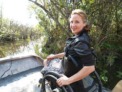 Deborah in the Florida Everglades