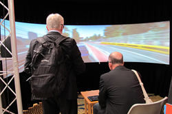 The well-attended interactive demonstration session at Electronic Imaging provides a hands-on look at new technology, including virtual reality environments.