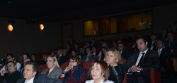 The audience in the cinema of the Pera Museum in Istanbul.