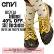 Receive an additional 40% off all sale merchandise at envishoes.com
