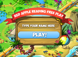 Red Apple Reading - Free Play page