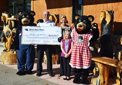 "Black Bear Diner Co-Founder, Bob Manley, Presents Check to Make-A-Wish. Black Bear Diner raised $202,200.86 during the December 2013 ""Save Room For A Wish"" Campaign."