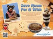 "Black Bear Diner ""Save Room For A Wish"" Promotional Placemat"