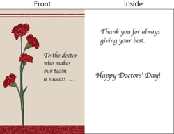 2014 National Doctors' Day Greeting Card