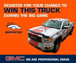 weld county garage gmc truck denver broncos mitch unrein giveaway