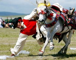 Horse Race is a significant part of important Tibetan festivals.