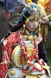 People in traditional Tibetan costumes are also a big attraction for tourists.