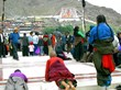 Tibetans go to worship Buddha on Tashilhunpo Festival.