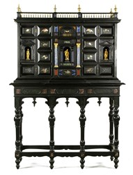 Late 18th/ Early 19th C. Italian Ebonized Cabinet