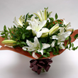 La Boheme; a bouquet of white lilies
