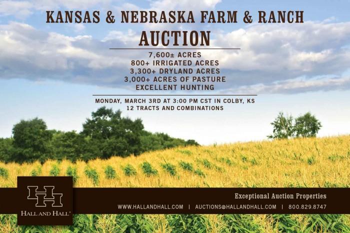 7,600± Acres of Kansas and Nebraska Farm & Ranch Land for