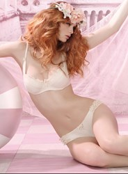 Organic cotton bra and panties