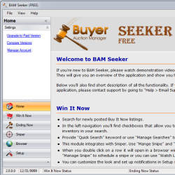 Screenshot of Home screen of BAM Seeker