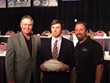 Attorney Kevin Rowe helped present the Danny White Quarterback Award.