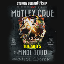 Motley Crue to Rock the Legendary Buffalo Chip with Special Guest Alice Cooper