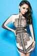Lace Dress, PU Strappy Dress