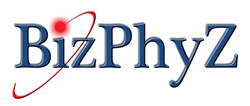Logo for BizPhyZ, Chris Reich, Business Speaker