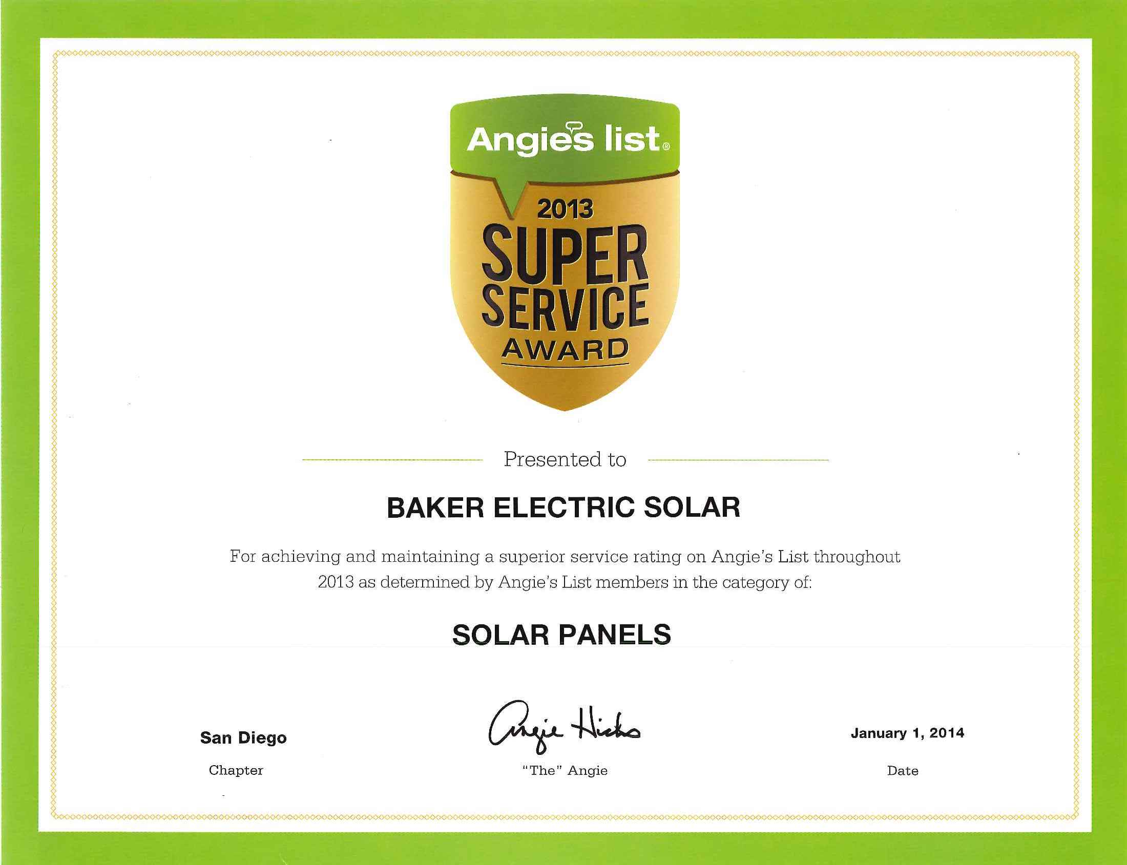 Solar power systems baker electric solar recognized as a sunpower