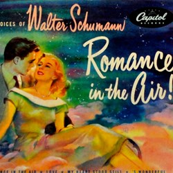 "Walter Schumann ""Romance in the Air!"" album artwork"
