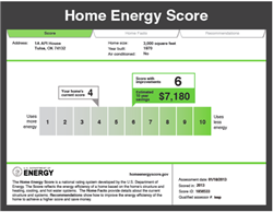 Home Energy Score report sample