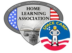 Home Learning Association Logo and Space Camp Logo