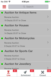 Reverse Auction Bidding using iPhone