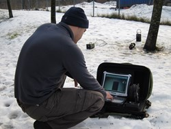 BoltX Pro system, X-ray inspection in the snow