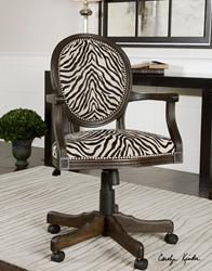 uttermost yalena desk chair 23077 accent furniture