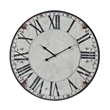Sterling Lighting Clock Roman Numeral Printed Clock White With Black Print 118-040