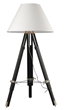 Dimond Lighting Studio Floor Lamp in Chrome and Black with Pure White Woven Linen Shade D2127