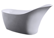 Barclay resin freestanding slipper tub-white matte finish RTSN66-WH